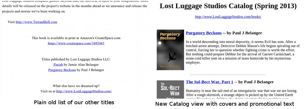 Preview of the EPUB Catalog