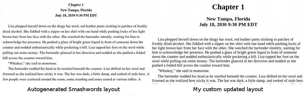 Preview of the EPUB layout changes